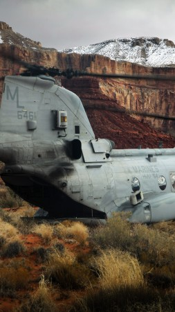 CH-47, Chinook, Boeing, transport helicopter, U.S. Army, pilot, Grand Canyon Village (vertical)