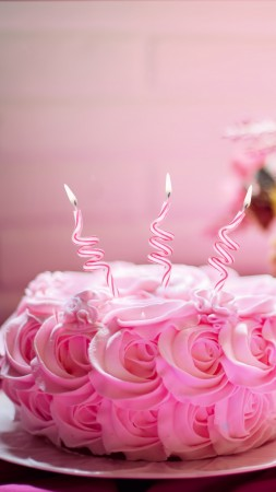 birthday cake, receipt, pink, 5k (vertical)