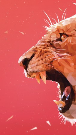 lion, art, 5k (vertical)