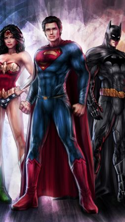Justice League, Wonder Woman, Batman, The Flash, 4k (vertical)