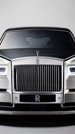 Rolls-Royce Phantom, cars 2017, 4k (vertical)