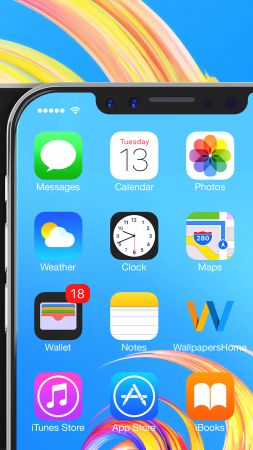 iPhone X, silver, 3D, leaked, WWDC 2017, 4k (vertical)