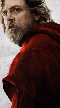 Star Wars: The Last Jedi, Mark Hamill, 8k (vertical)