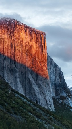 El Capitan, mountain, Yosemite, National Park, California, 5k (vertical)
