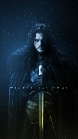 Game of Thrones Season 7, Jon Snow, Kit Harington, TV Series, 4k (vertical)