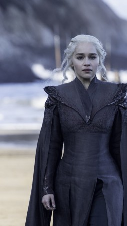 Game of Thrones Season 7, Daenerys Targaryen, Emilia Clarke, TV Series, 4k (vertical)