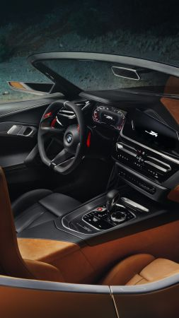 BMW Z4, Roadster, Cars 2018, interior, 5k (vertical)