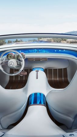 Mercedes-Maybach 6, electric cars, interior, 4k (vertical)