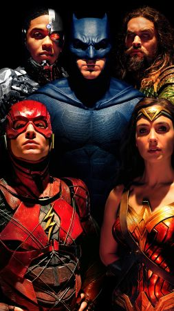 Justice League, Wonder Woman, Batman, The Flash, 8k (vertical)