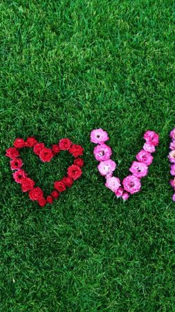 love image, heart, 4k (vertical)