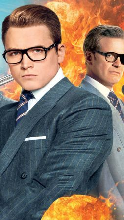 Kingsman: The Golden Circle, Colin Firth, Taron Egerton, 4k (vertical)