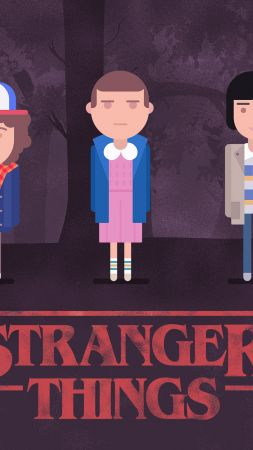 Stranger Things, season 2, TV Series, art, poster, 4k (vertical)