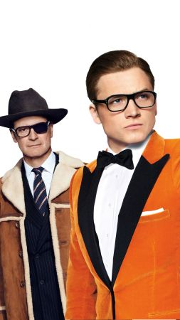 Kingsman: The Golden Circle, Colin Firth, Taron Egerton, 8k (vertical)