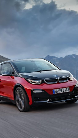 BMW i3s, electric car, 2018 Cars, 4k (vertical)
