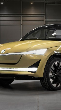 Skoda Vision E, electric car, HD (vertical)