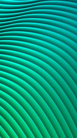 waves, lines, green, HD (vertical)