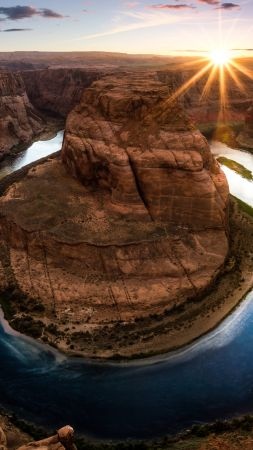 Horseshoe Bend, Arizona, USA, 8k (vertical)