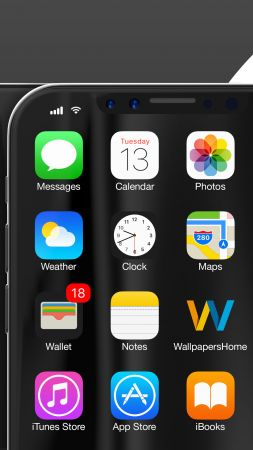 iPhone X, black, WWDC 2017, 4k (vertical)