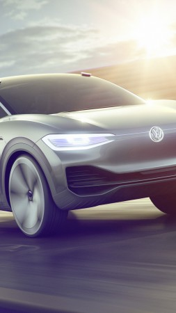Volkswagen I.D. CROZZ ll, electric car, 4k (vertical)