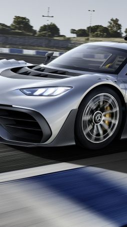 Mercedes-AMG Project One, hypercar, 4k (vertical)