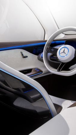 Mercedes-Benz Concept EQ, electric car, interior, 4k (vertical)