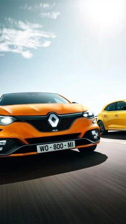 Renault Megane RS, 2018 Cars, 4k (vertical)