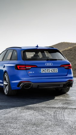 Audi RS4 Avant, 2018 Cars, 4k (vertical)