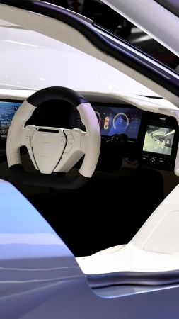 Aspark Owl, electric car, interior, 4k (vertical)