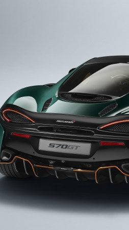 McLaren 570GT, XP Green, cars 2017, 4k (vertical)