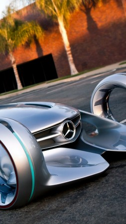 Mercedes-Benz Silver Arrow, future cars, 4k (vertical)