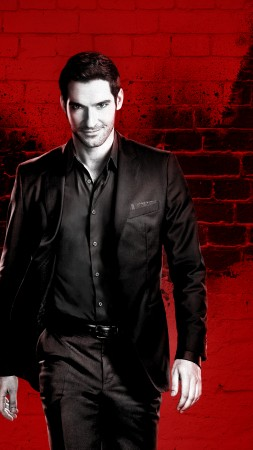 Lucifer Season 3, Tom Ellis, TV Series, 4k (vertical)