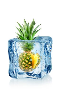 pineapple, fruit, ice, 5k (vertical)