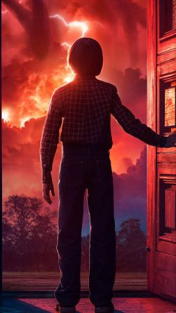 Stranger Things, season 2, TV Series, Noah Schnapp, 4k (vertical)
