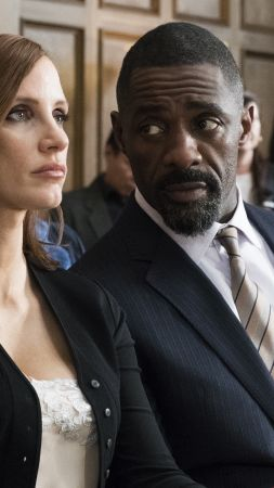 Molly's Game, Jessica Chastain, Idris Elba, 4k (vertical)