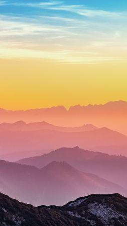 mountains backgrounds. Mountains, Sky, Clouds, 4k (vertical) Mountains Backgrounds