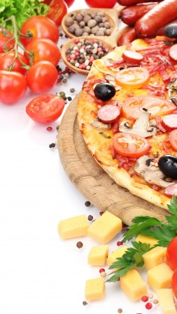 pizza, tomato, 5k (vertical)