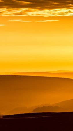 mountains, sky, sunrise, 8k (vertical)