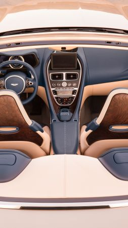 Aston Martin DB11 Volante, interior, 2018 Cars, 5k (vertical)
