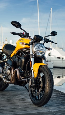 Ducati Monster 821, 2018 Bikes, 4k (vertical)