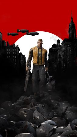 Wolfenstein 2: The New Colossus, poster, E3 2017, 4k (vertical)