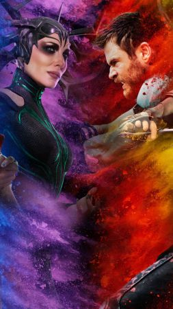 Thor: Ragnarok, Chris Hemsworth, Tom Hiddleston, Tessa Thompson, poster, 4k (vertical)