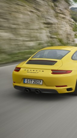 Porsche 911 Carrera T, 2018 Cars, 5k (vertical)