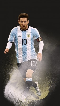Lionel Messi, soccer, football, 4k (vertical)