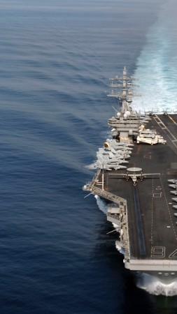 USS Ronald Reagan, aircraft carrier, CVN-76, Nimitz, U.S. Navy (vertical)