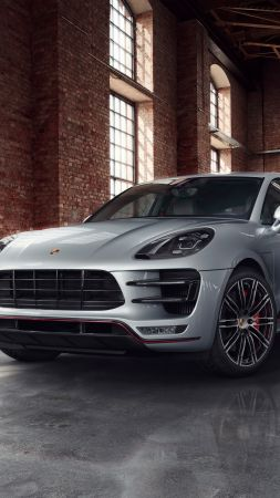 Porsche Macan Turbo, cars 2017, 4k (vertical)