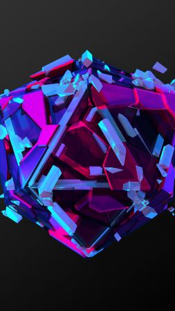 triangles, 3D, HD (vertical)