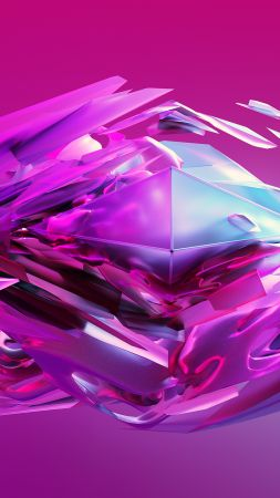 candy dreams, 3D, sphere, violet, HD (vertical)