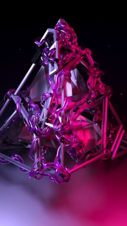 pyramid, 3D, violet, HD (vertical)