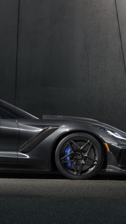 Chevrolet Corvette ZR1, 2018 Cars, 4k (vertical)