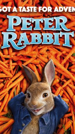Peter Rabbit, carrot, 4k (vertical)